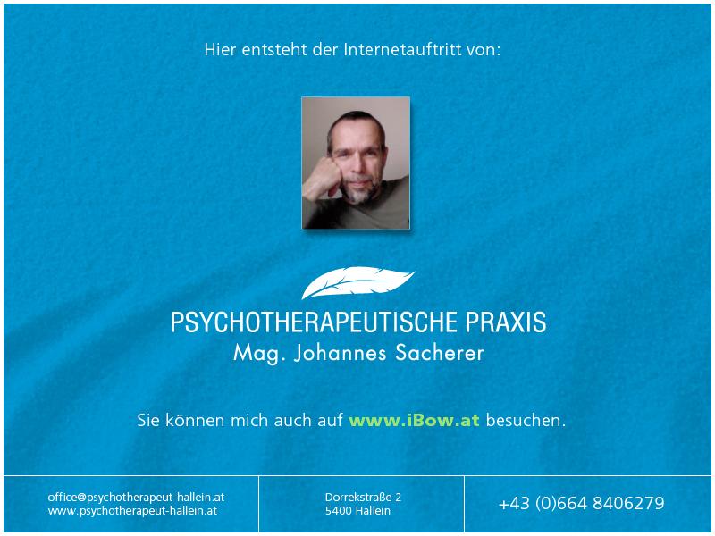 Psychotherapeutische Praxis | Johannes Sacherer